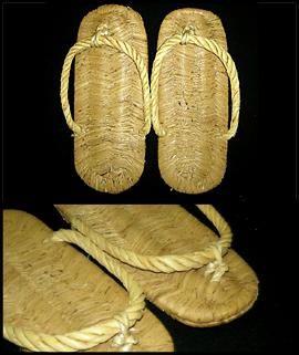 waraji, straw footwear
