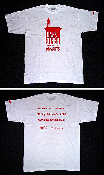 One and Other tee shirt