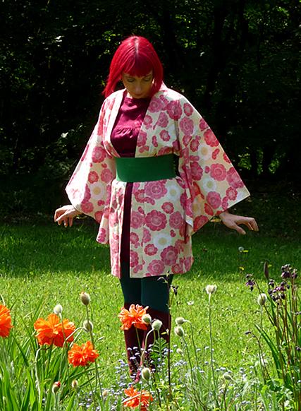 plum blossom pink haori