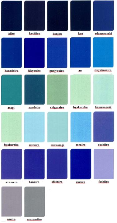 japanese colour names seasonal combinations japanese colour names seasonal
