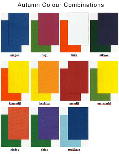 japanese colour names & seasonal combinations |