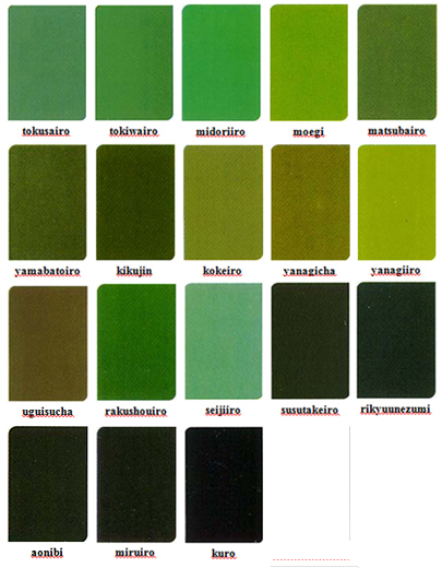 Green Colors For Living Rooms: Japanese Colour Names & Seasonal Combinations