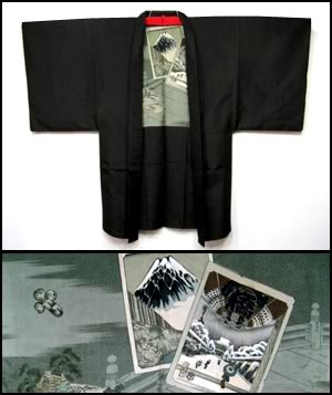 Beautiful scenes lining, men's haori