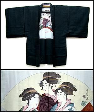 3 geisha men's haori