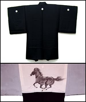 Galloping horse men's haori