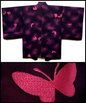 Pink butterflies galore haori