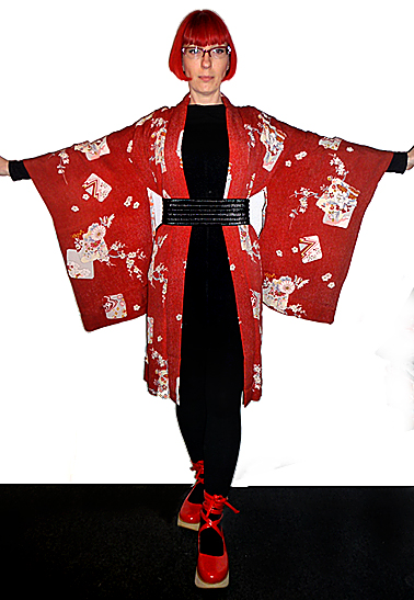 1920s deep red haori