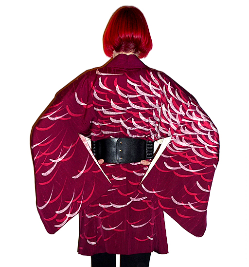 spider mum plum haori back