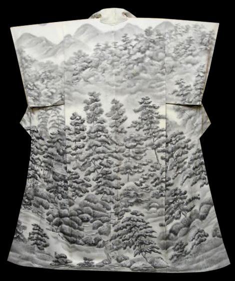 misty forest kimono