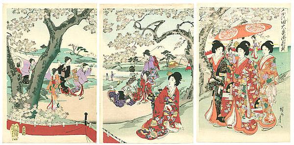 Chikanobu_Yoshu-Chiyoda_Palace-Hanami Party