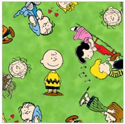 Happiness is Peanuts Characters Marbled Green