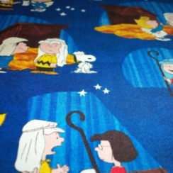 Nativity Scene Peanuts Gang Charlie Brown Snoopy Lucy Christmas Program Blue