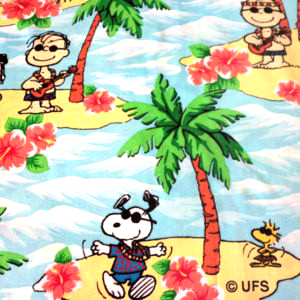 peanuts-gang-fabric-hawaiian-islands-very-rare-htf-lucy-charlie-brown-fat-quarter-new-btfq