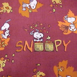 snoopy autumn