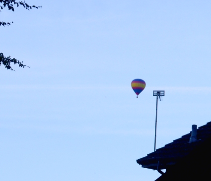 distant hot air balloon